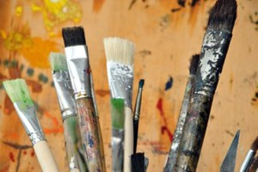 An assortment of brushes