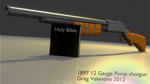 Try balancing the bible and a shot gun its very hard to do as a Christian.