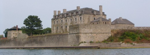 Old Fort Niagara is located just north of Niagara Falls, on Lake Ontario.
