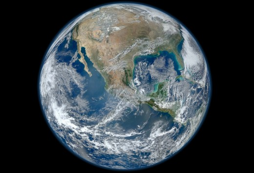 A true color NASA satellite mosaic of Earth