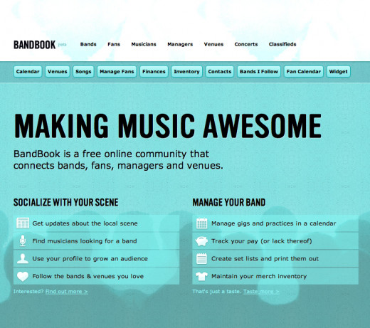 Bandbook Band Management