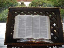 Bible in the glass chapel in Guido gardens.