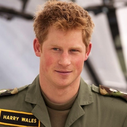 One of the hottest redhead men: Prince Harry