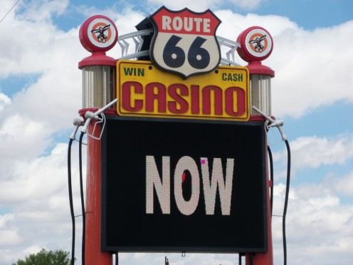 Modern day casino on old Route 66.