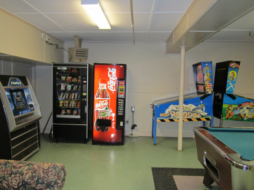 Vending Machines in the Game Room at the Eastern Slope Inn Resort.