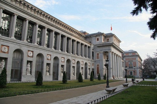 This photograph of the Prado Museum was taken on January 8, 2008 by Brian Snelson.