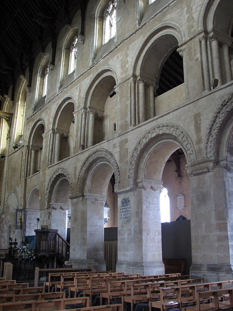 Wymondham Abbey - Norman arcading.