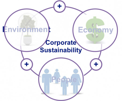 The triple bottom line or the three P's - profit, people and planet are the three long-term factors that contribute to corporate sustainability
