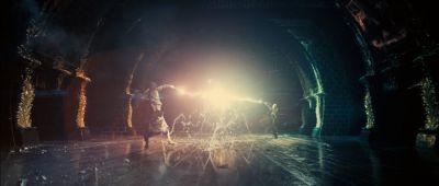 Battle between Dumbledore and Voldemort from Harry Potter and the Order of the Phoenix