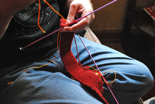 Some men like to knit . . .