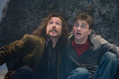 Sirius and Harry in Harry Potter and the Order of the Phoenix movie