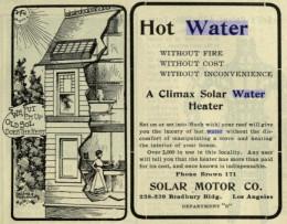 1902 Solar Water Heater Advertisement