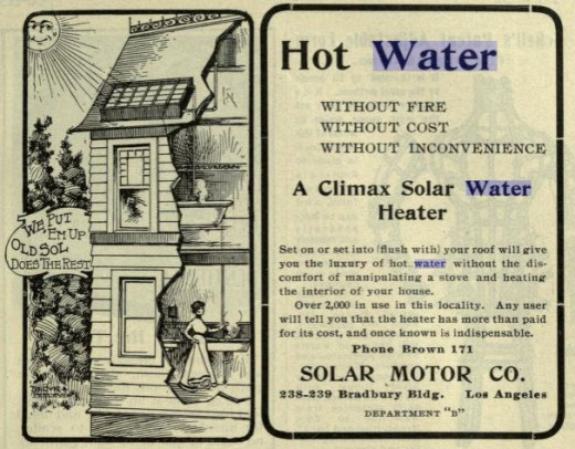 1902 Solar Water Heater Advertisement