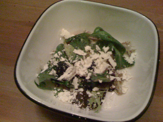 Blueberry, Goat Cheese, and Spring Mix Salad with Honey Balsamic Vinaigrette