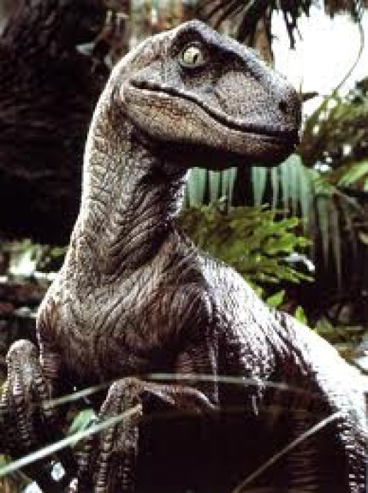 Velociraptor as portrayed in Jurassic Park