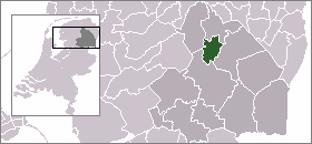 Map location of Assen, The Netherlands