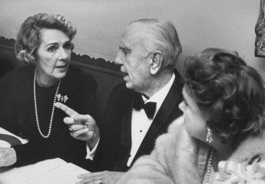 "Ruby Keeler and Busby Berkeley on the opening night of ""No No Nanette."" 1971"