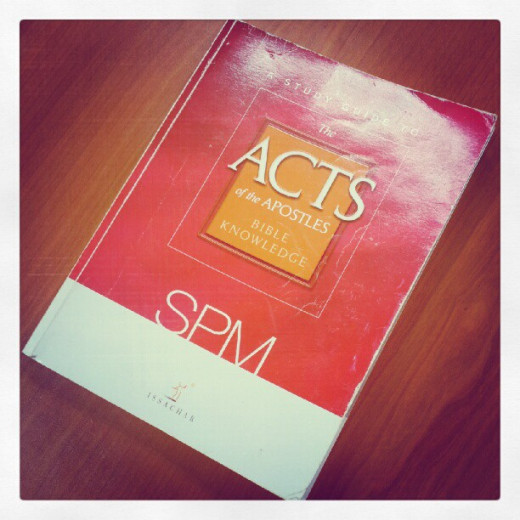 Form 5 Bible Knowledge centres around the Acts of the Apostles