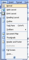 View Menu In Ms Word 2003