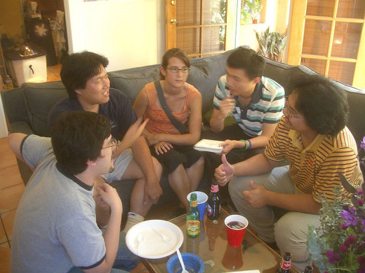 Regular conversation in small groups can help a student become more fluent in English