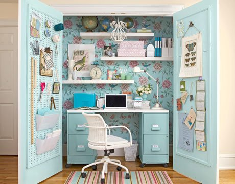 Even a closet can serve as your office.