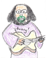 Sketch drawn by an anonymous fan at the Green Man Festival 2004
