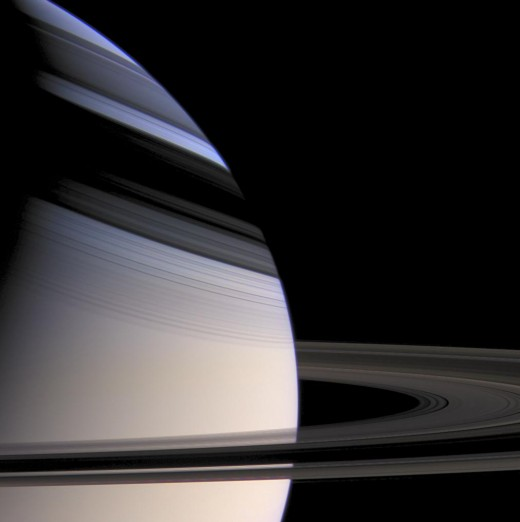 A wonderful shot of Saturn taken by Cassini - I love the shadow cast onto the planet by its rings.