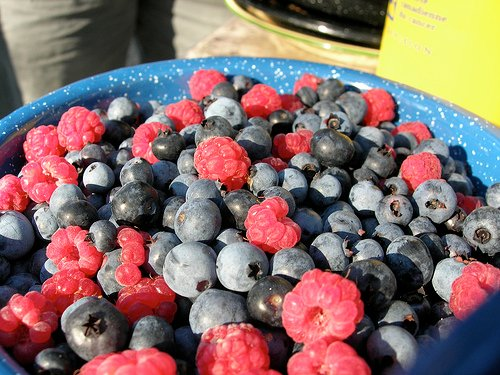 Berries make a colorful and flavor packed compound butter.