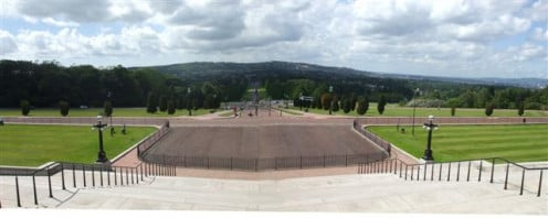 View from Parliament Buildings, Stormont. Looking down the massive entrance avenue.