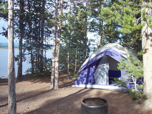 Our Campsite, right on Lake Hebgen, just outsite the town of West Yellowstone, Montana.