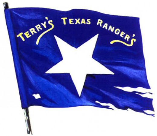 First banner used by the 8th Texas Cavalry.