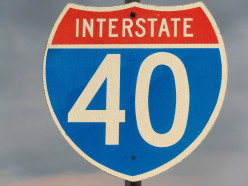 Tennessee - 455.28 miles (I never saw an I-40 sign in Tennessee to photograph, with the state name on it ??)