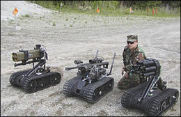 TALON military robots used by the United States Army