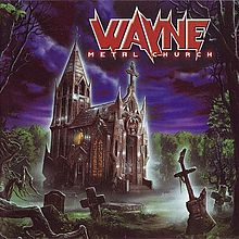 "Wayne's ""Metal Church"" album, complete with MC-like logo and ""guitar cross"" borrowed from the first MC album cover. What nerve!"