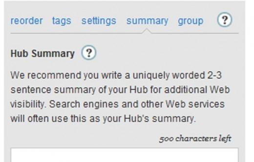 Screenshot: Add Summary and Tags
