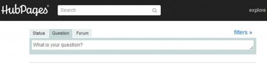 Screenshot: Ask Question