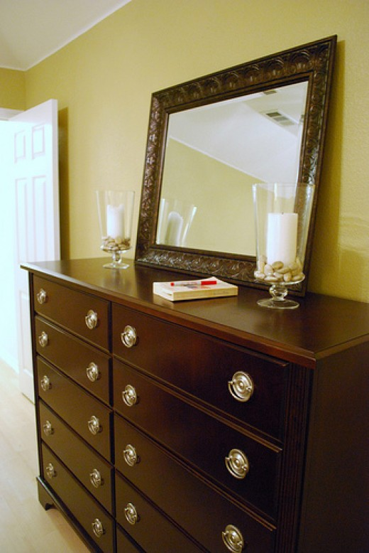 New pulls can completely change the look of an old dresser!