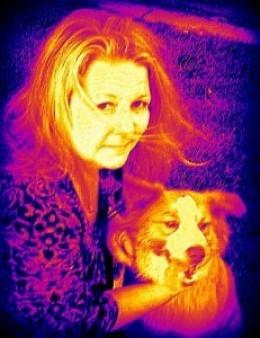 My beloved dog Karma and I.