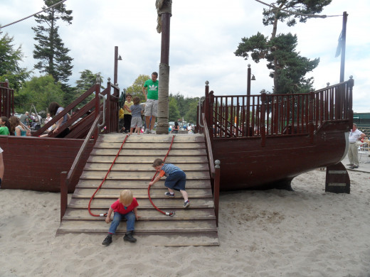 Wooden Pirate Play area