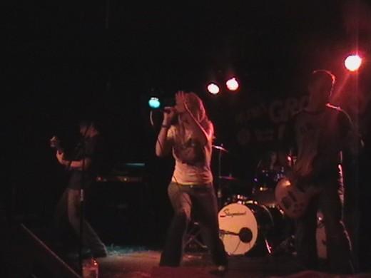 Paperboy Jack on stage, 2006