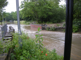 local road, now a river