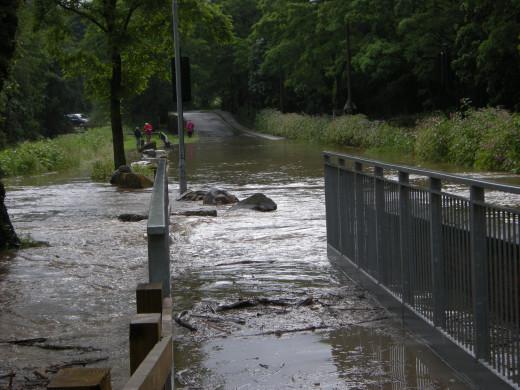 Pathway fully submerged