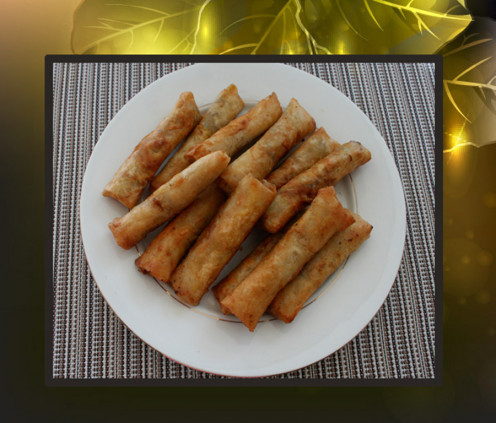 Delicious pork lumpia - yummy!