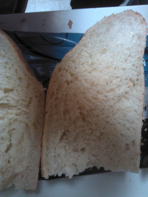 Slice French Bread in half lengthwise