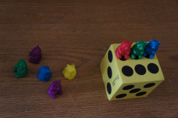 Foam Dice and Counting Bears