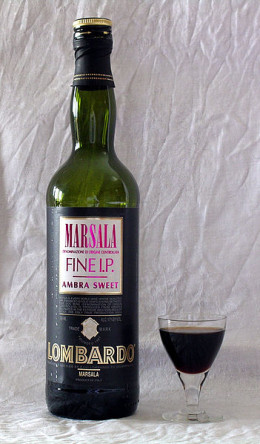 Marsala Wine - It typically has 15-20 percent alcohol content.