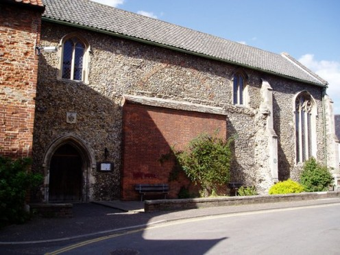 Wymondham Library, in 2005, a former medieval chapel, near to Wymondham, Norfolk, Great Britain