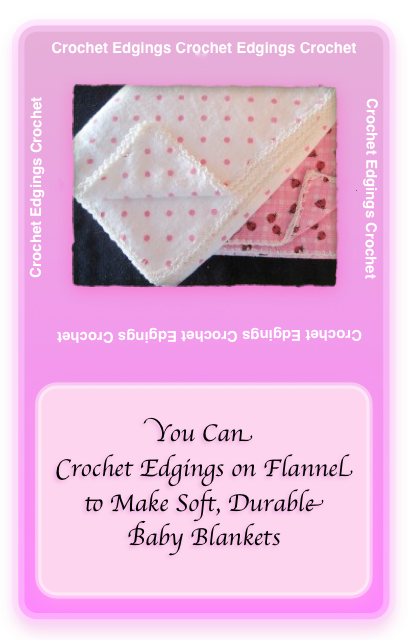 Pink polka dot fabric with a fancier edging.