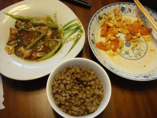 Lentils and Chinese food