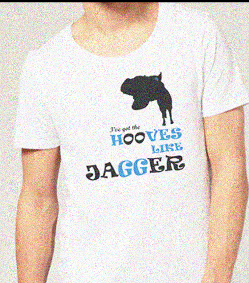 Hooves Like Jagger teeshirt - not for sale and can't be worn by Weird Horse